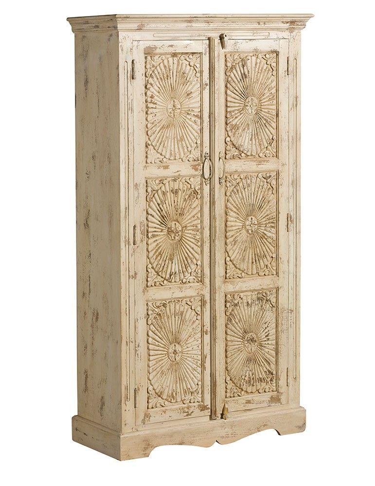 Alta decoraci n armario estilo oriental madera mango - Armario madera blanco ...
