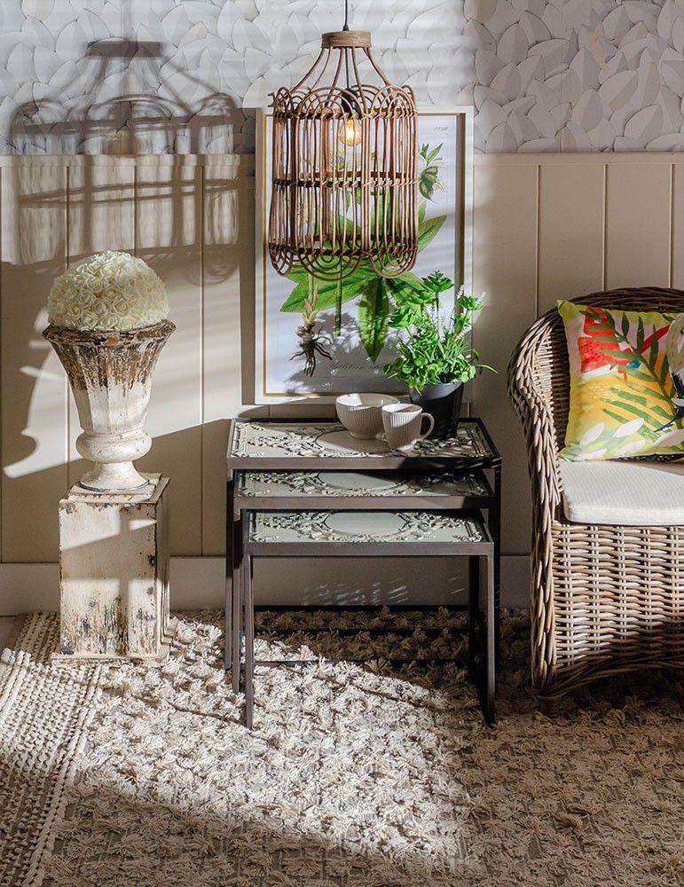 Mueble decoraci n interior 3 mesitas sal n estilo industrial negro - Mesitas auxiliares salon ...