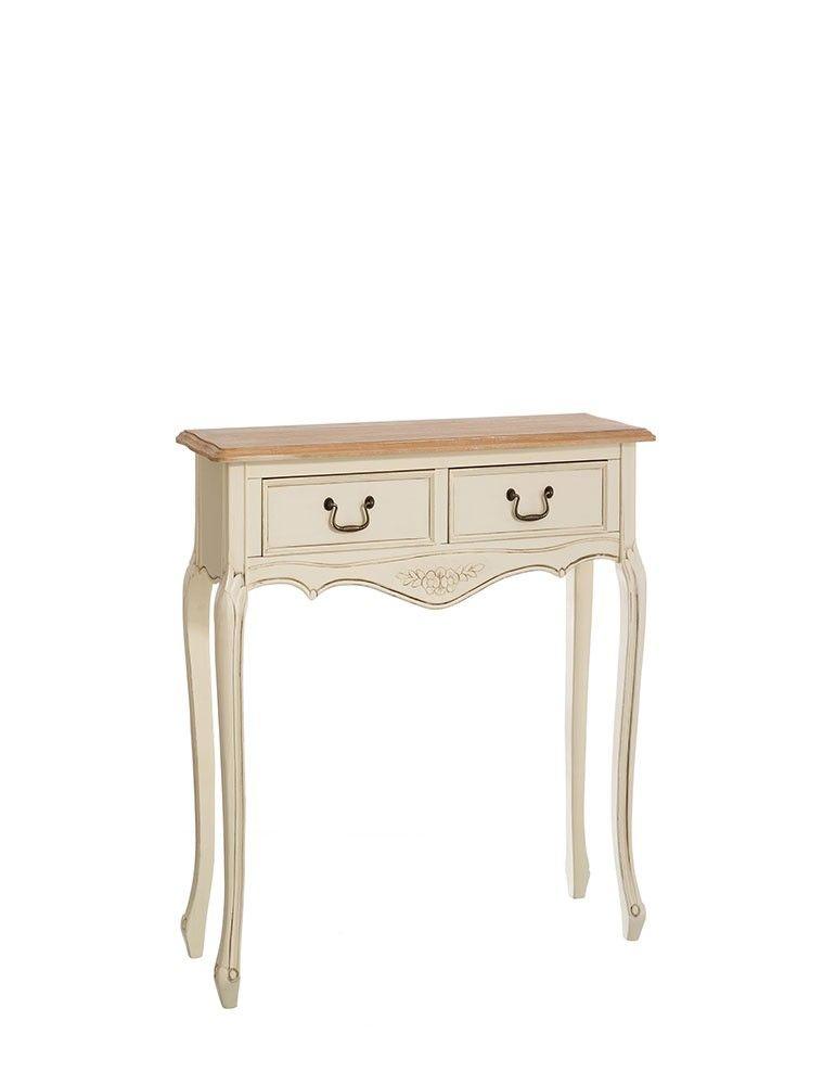 Mueble consola dressoire estilo shabby chic color crema 2 for Mueble 70 x 40